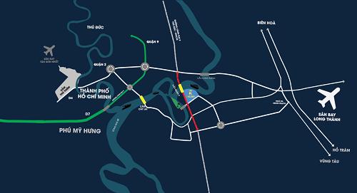Khu đô thị King Bay sở hữu ba mặt giáp sông, tọa lạc tại mặt tiền Vành đai 3, Nhơn Trạch, Đồng Nai.
