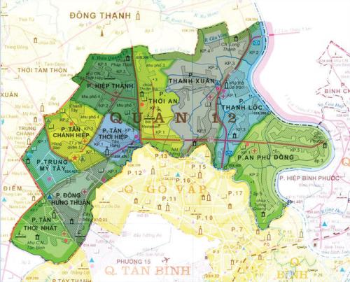 Quận 12 sẽ là trung tâm đô thị vệ tinh của các quận Hóc Môn, Củ Chi và Thuận An, Bình Dương trong vài năm tới.