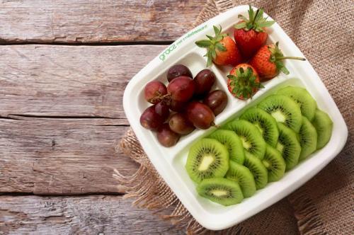 Hộp nhựa đựng thức ăn được làm từ bã mía tốt cho sức khỏe, thân thiện môi trường. Ảnh minh họa.