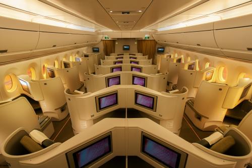 Airbus A350-900 được Vietnam Airlines trang bị đầy đủ thiết bị, dịch vụ cao cấp theo tiêu chuẩn quốc tế.