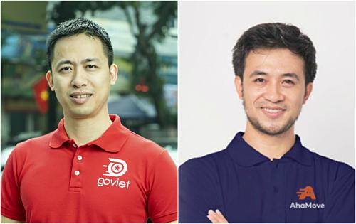 Ông Nguyễn Vũ Đức (bên trái) và ông Nguyễn Xuân Trường (bên phải) lần lượt rời ghế CEO Go-Viet và AhaMove thời gian gần đây.