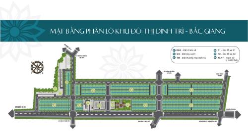 Bản đồ phân lô dự án khu đô thị Dĩnh Trì