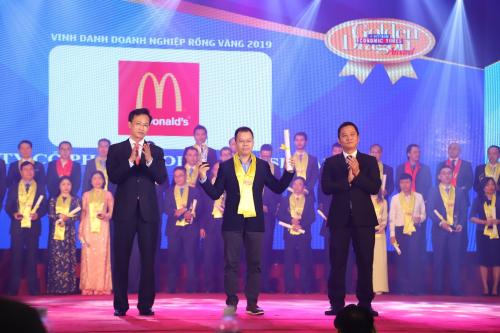 McDonald's Việt Nam giành giải Doanh nghiệp phát triển bền vững