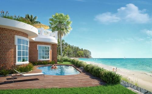 Một khu biệt thự bên biển hạng sang mang đậm phong cách Địa Trung Hải ở Việt Nam.