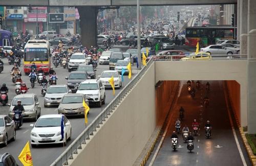 Hầm chui Đầm Hồng - Giáp Bát có ý nghĩa quan trọng cho giao thông khu Nam thành phố.