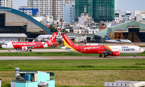 Air Asia và Vietjet không thể vận hành chung dưới một thương hiệu sau vụ hợp tác đổ bể năm 2010. Ảnh: Jetphotos/Tran Duy Khang