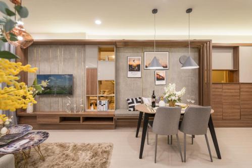 Thiết kế thông minh tạo cảm giác rộng rãi hơn so với diện tích thực cho căn hộ.