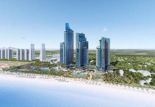 Phối cảnh tổ hợp nghỉ dưỡng giải trí biển SunBay Park Hotel & Resort Phan Rang.