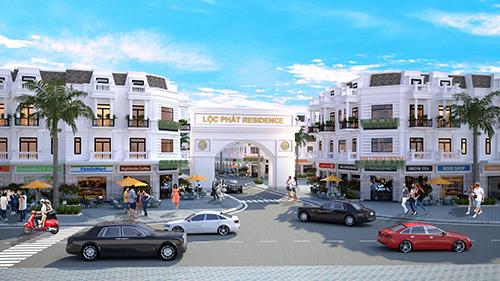 Phối cảnh một dự án nằm tại cửa ngỏ khu đô thị mới tại thị xã Tân An.