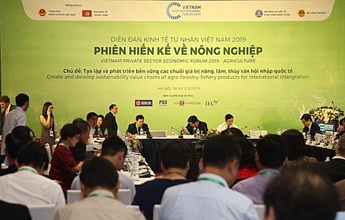 Phiên hiến kế về nông nghiệp thuộc Diễn đàn Kinh tế Tư nhân Việt Nam 2019 thu hút hàng trăm chuyên gia trong và ngoài nước.