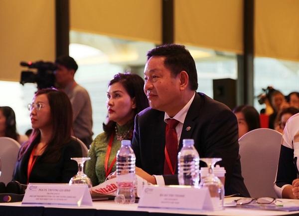 Ông Trương Gia Bình - Tổng giám đốc tập đoàn FPT cũng có mặt tại hội thảo.