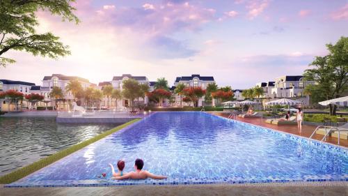Bể bơi vô cực - một trong những tiện ích thư giãn cao cấp nhất của khu đô thị Crown Villas