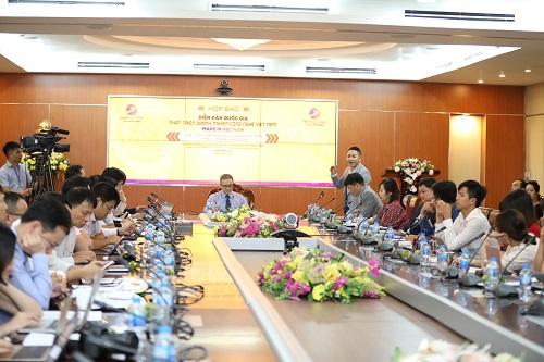 họp báo Diễn đàn quốc gia về Phát triển doanh nghiệp công nghệ Việt Nam chiều ngày 6/5.