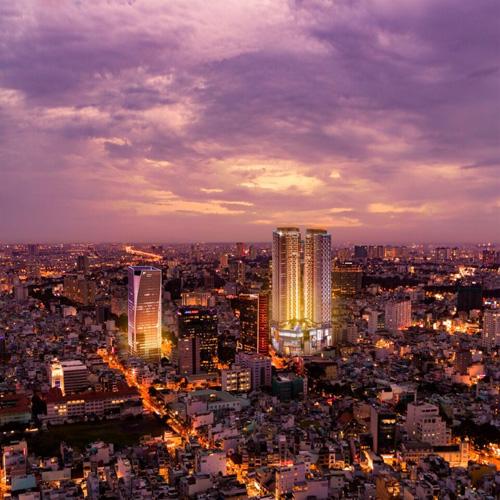 Tổ hợp Alpha City với tháp văn phòng Alpha Town, tòa tháp đôi căn hộ cao cấp Alpha Hill và trung tâm thương mại Alpha Mall