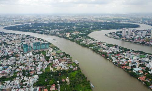 Bán đảo Thanh Đa, quận Bình Thạnh, TP HCM. Ảnh: Quỳnh Trần