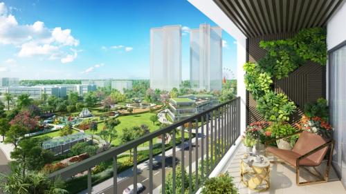 Thiết kế các khối nhà hình cánh quạt, đảm bảo tất cả các căn hộ đều đón nắng gió tự nhiên và tầm nhìn rộng thoáng.