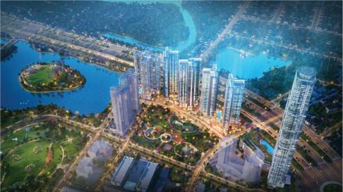 Thiết kế nổi bật của Eco-Green Saigon với yếu tố xanh và một tòa tháp 69 tầng.
