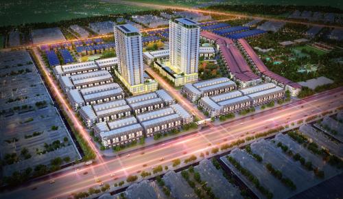 Phối cảnh dự án Phú Mỹ Gold City tại trung tâm thành phố Cảng Phú Mỹ