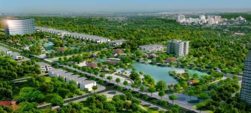 Phối cảnh không gian xanh tại dự án