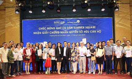 Gotec Land trao giấy chứng nhận quyền sở hữu căn hộ Summer Square đợt hai