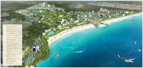 Quần thể đô thị giải trí, nghỉ dưỡng KN Paradise liền kề sân bay quốc tế Cam Ranh.