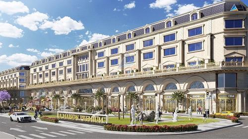 Dãy nhà phố thương mại mang âm hưởng kiến trúc Pháp