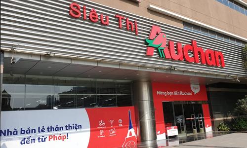Bên ngoài siêu thị Auchan tại Hà Đông, Hà Nội. Ảnh: Anh Minh