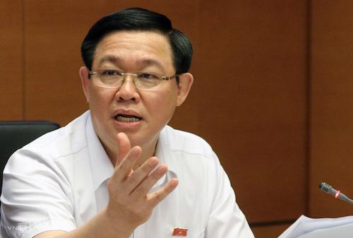 Phó thủ tướng Vương Đình Huệ tại phiên họp tổ về tình hình kinh tế xã hội sáng 21/5. Ảnh: Võ Hải