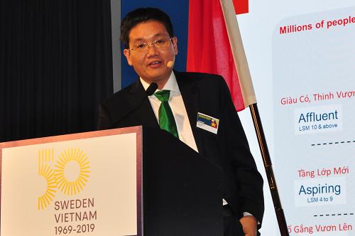 Ông Trần Thanh Hải - Chủ tịch HĐQT NutiFood khẳng định nhà máy mới là bước tiến lớn trong chiến lược vươn ra thế giới của doanh nghiệp.