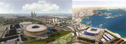 Sân vận động tổ chức Fifa World Cup 2022 Lusail 80.000 chỗ ngồi và sân vận động Ras Abu 40.000 chỗ ngồi tại Quatar mà Công ty Đại Dũng đã trúng thầu cung cấp gói Kết cấu thép.