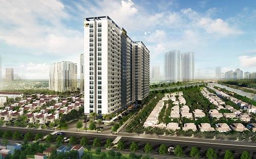 Phối cảnh một dự án căn hộ tại Bình Dương do doanh nghiệp tại TP HCM đầu tư xây dựng.