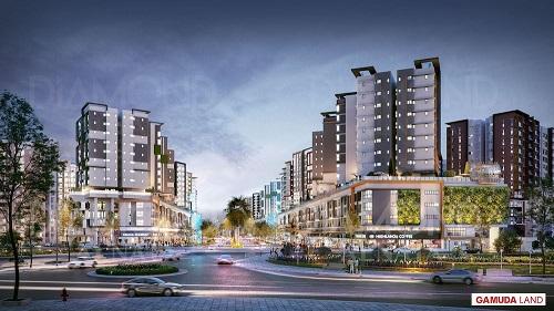 Phân khu Diamond Alnata của Celadon City sẽ được tích hợp khu phố thương mại sầm uất.