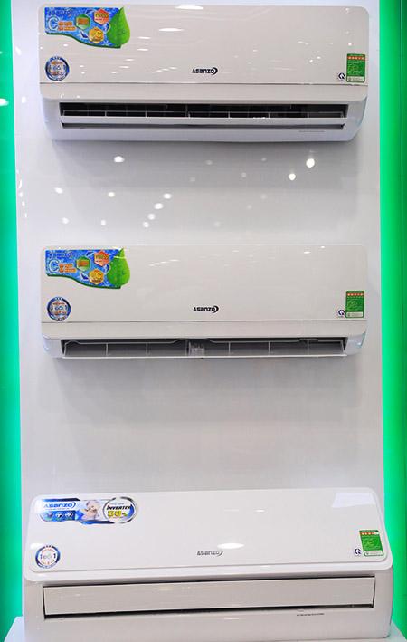 Asanzo tung ra các dòng máy lạnh tích hợp công nghệ hiện đại nhưng mức giá vừa túi tiền giới bình dân.