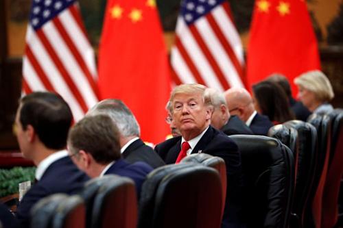Tổng thống Mỹ Donald Trump tại Bắc Kinh năm 2017. Ảnh: Reuters