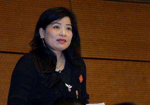Bà Đàng Thị Mỹ Hương - đại biểu Quốc hội tỉnh Ninh Thuận. Ảnh: Trung tâm báo chí Quốc hội
