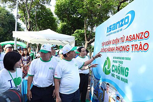 Asanzo đồng hành sự kiện nhằm hưởng ứng hoạt động hạn chế rác thải nhựa.