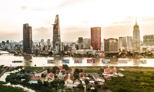 Thị trường bất động sản trung tâm TP HCM. Ảnh: Lucas Nguyễn