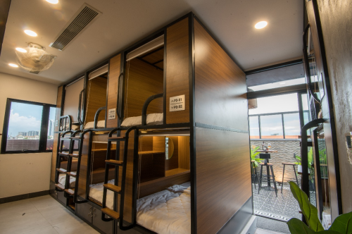 Khách sạn với 24 phòng con nhộng lần đầu tiên có tại khu đô thị Phú Mỹ Hưng.