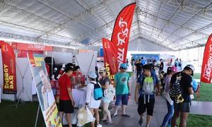 Nhiều gian hàng góp mặt tại VnExpess Marathon