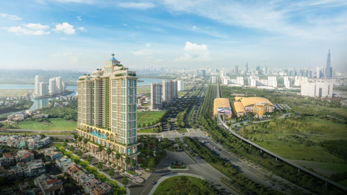Khu Thủ Thiêm quận 2 thu hút nhiều dự án bất động sản cao cấp.