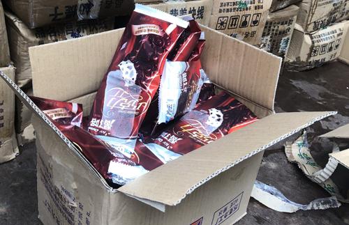 Lô hàng 8.000 que kem Trung Quốc nhập lậu vào Việt Nam vừa bị quản lý thị trường Lào Cai thu giữ.