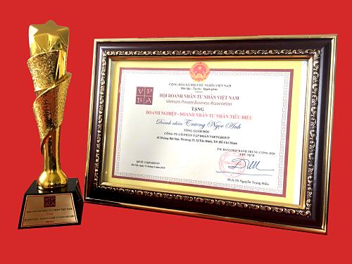 Chủ tịch Tập đoàn Vsetgroup nhận danh hiệu doanh nhân tiêu biểu - Kinh Doanh