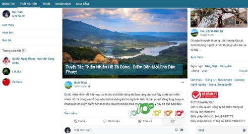 Người dùng chia sẻ bài viết trải nghiệm về Hồ Tà Đùng cho các phượt thủ.