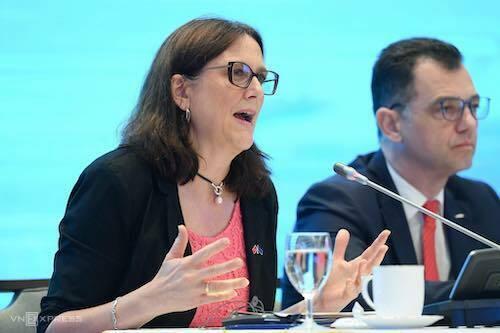 Bà Cecila Malmstrom - Cao uỷ thương mại của Liên minh châu Âu. Ảnh: Giang Huy