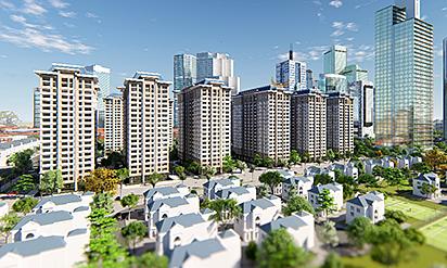 Không gian sống xanh mát tại Khu đô thị Thanh Hà Mường Thanh