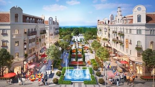 Phối cảnh quảng trường nội khu Shophouse Europe