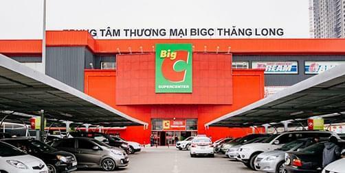 Bên ngoài trung tâm thương mại của Big C ở Hà Nội. Ảnh: Big C
