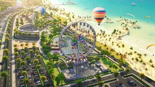 Phối cảnh tổ hợp du lịch nghỉ dưỡng giải trí NovaWorld Phan Thiết.