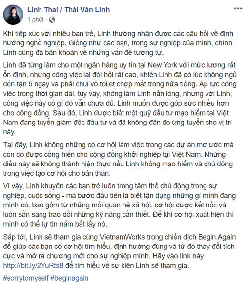 Thái Vân Linh chia sẻ về hành trình dám bứt phá để theo đuổi đam mê.