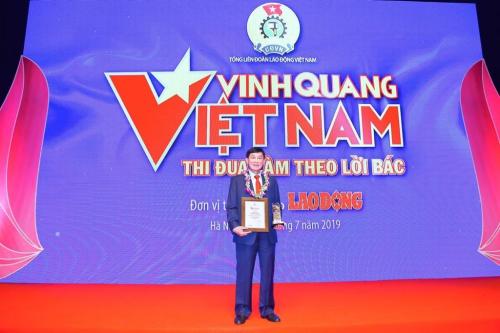 Chủ tịch IPPG nhận giải thưởng Vinh quang Việt Nam